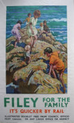 1950's Filey travel poster LNER