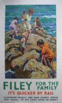 1950's Filey travel poster LNER
