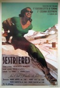 Vintage Sestriere ski travel poster