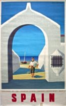 Spain vintage travel poster