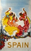 Spain – vintage flamenco travel poster