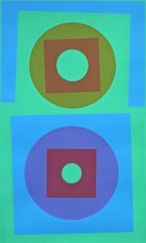 Circles in Harmony. 1969 screenprint. Bob Crossley