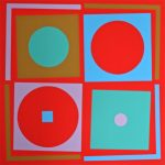 Four Square. 1968 screenprint. Bob Crossley