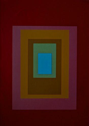 Blue Centre. 1971 Screenprint. Bob Crossley