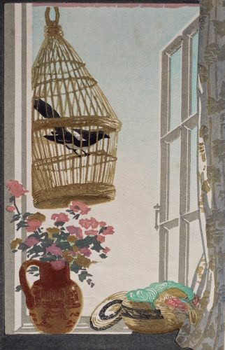 May Morning. Original woodblock print by Arthur Rigden Read. 1924.