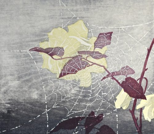 Spiders Web. Original woodblock print. 1930. Arthur Rigden Read.